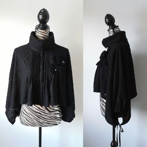 Victorian style high collar cape
